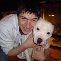 Lost dog on 13 Apr 0013 in Galway Wellpark. White male staffordshire Bull terrier/ 5 years old Name: Rocky